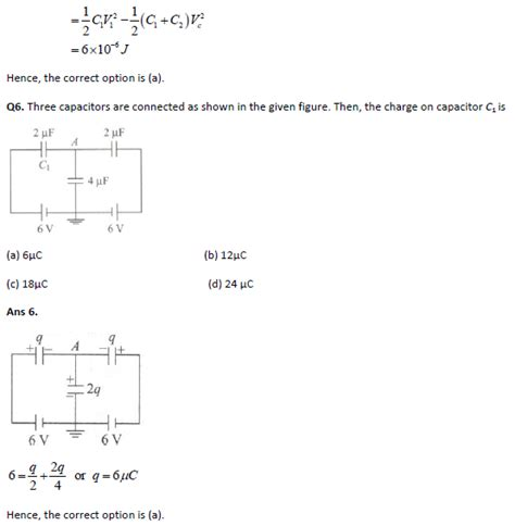 capacitors and capacitance in physics jee physics practice paper capacitor and capacitance