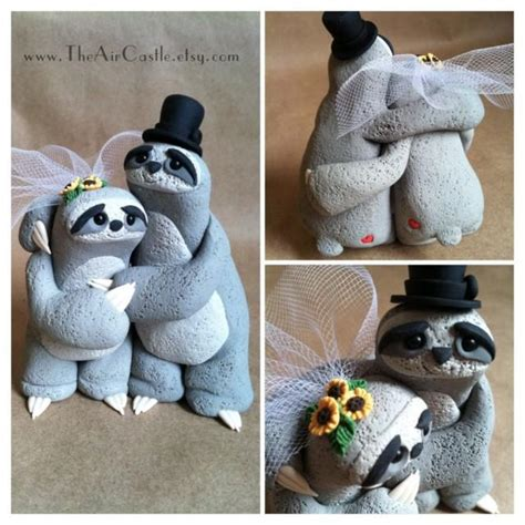 decor sloth wedding cake topper 2460719 weddbook