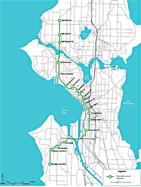 seattle map monorail seattle monorail