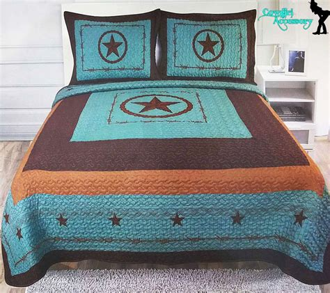 Quilts And Shams For Sale Barbed Wire Western Style Quilt Bedspread