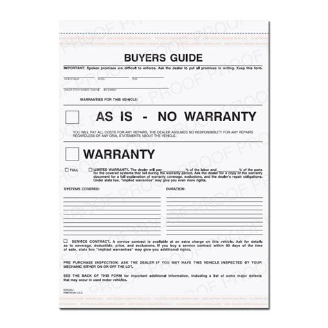 Product Details Designsnprint Auto Repair Warranty Template