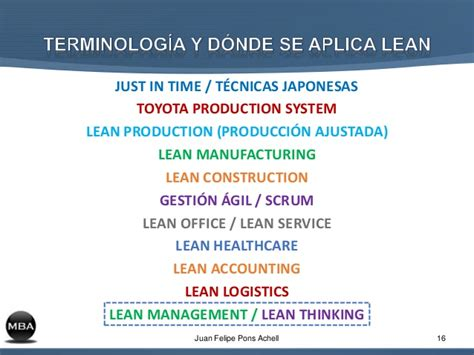 Lean Operations Mba by Lean Management Mba Conferencia