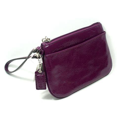 Small Wristlet coach patent leather small wristlet plum 47782 coach 47782
