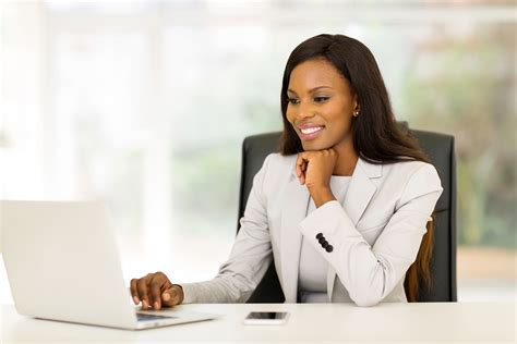 black african american business women portrait of beautiful young african business woman in