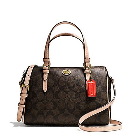 Coach Mini Bennet Patchwork 1 coach f50178 peyton signature mini satchel handbags coach anyhandbag