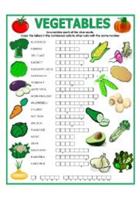 printable crossword puzzles vegetables double puzzle vegetables key