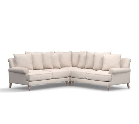 Pottery Barn Upholstered Sofas Sectionals Armchairs Sale 3 Sectional Sofa Sale