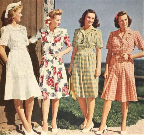 four lovely summer dresses from the 1943 sears catalog