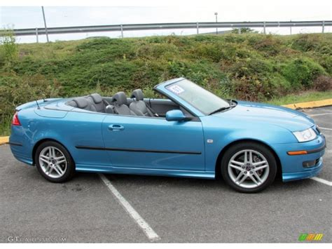 Ice Blue Metallic 2007 Saab 9 3 Aero Convertible Exterior