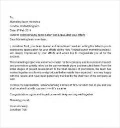 Letters To Staff Templates by Sle Appreciation Letter 8 Free Documents In