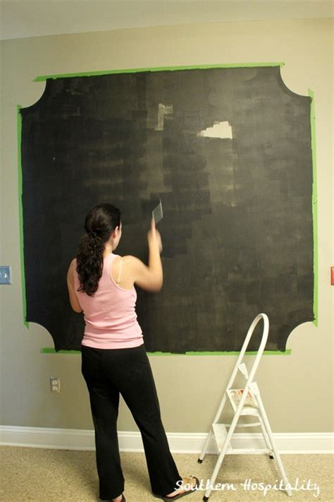 chalkboard paint cleaning a chalk board wall with frogtape