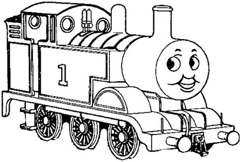 coloring page of a train engine coloring pages cartoon thomas the tank engine free