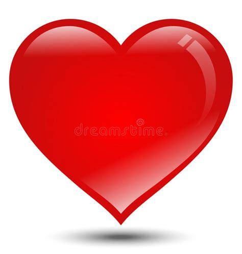 imagenes de corazones grandes y rojos coraz 243 n rojo grande en el fondo blanco ilustraci 243 n del