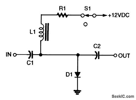 pin diode switch circuit shunt pin diode rf switch basic circuit circuit diagram seekic