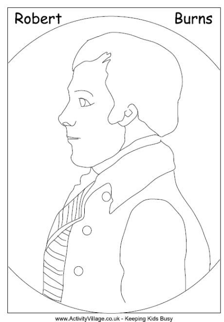 robert burns colouring page