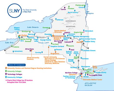 list of suny schools suny new york state tobacco free colleges