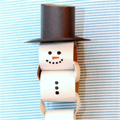 How To Make A Snowman Paper Chain - paper chains ultimate and new year decoration