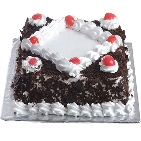 delicious black forest cake  square  gift  day midnight delivery cakengiftsin