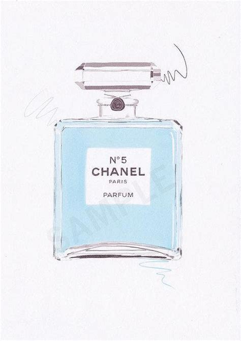 Parfum Chanel Blue baby blue chanel no 5 parfum wall