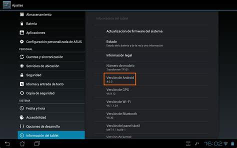 android version 4 0 4 la mejor versi 243 n de android para la asus transformer tf101 es android 4 0 3