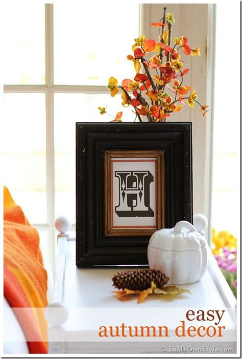 easy fall decor happy october 1st in my own style