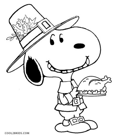 Printable Peanuts Thanksgiving Coloring Pages | printable snoopy coloring pages for kids cool2bkids