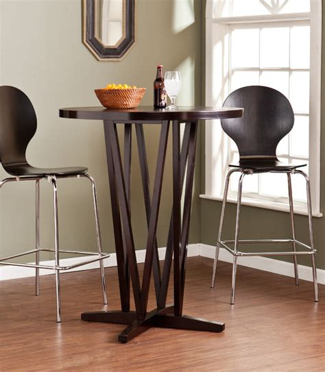 Espresso Bar Table Upton Home Hubert Espresso Bar Table Contemporary Indoor Pub And Bistro Tables By