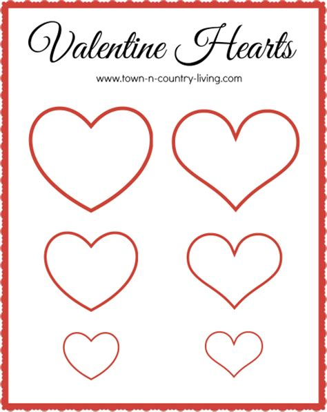 free printable heart banner how to make a paper heart banner town country living