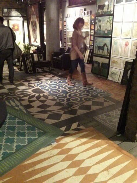 new vintage vinyl floor cloths from spicher company at