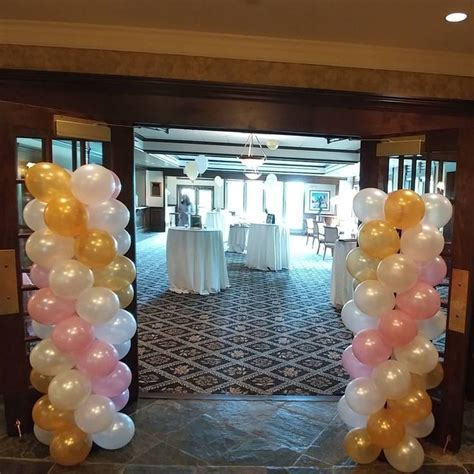 A lovely wedding shower, gold, pearl white and a hint of