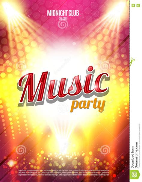party music music party poster background template vector