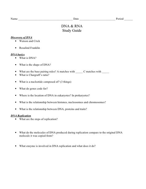 study guide chapter 12 section 3 dna rna and protein biology chp 12 dna and rna study guide