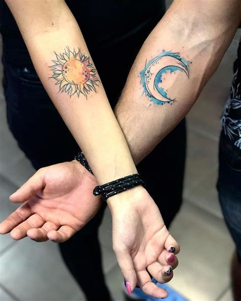 small his and her tattoos best 25 sun moon tattoos ideas on moon