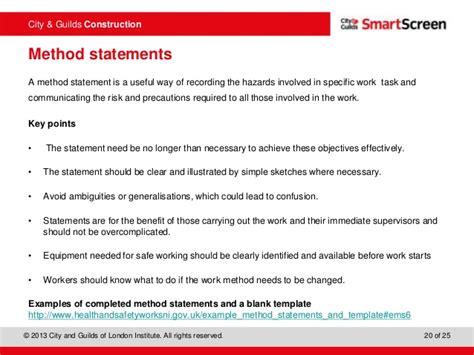 exle method statements waiter resume exles for