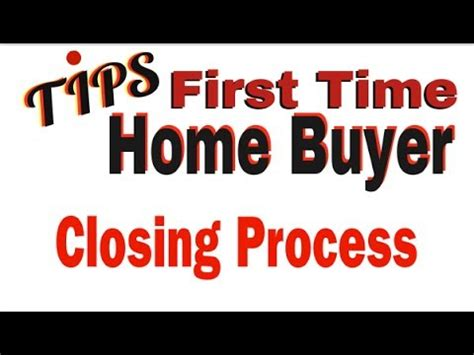 time home buyer tips maryland the closing process