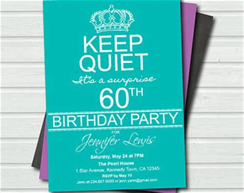 surprise 60th birthday invitation templates free google