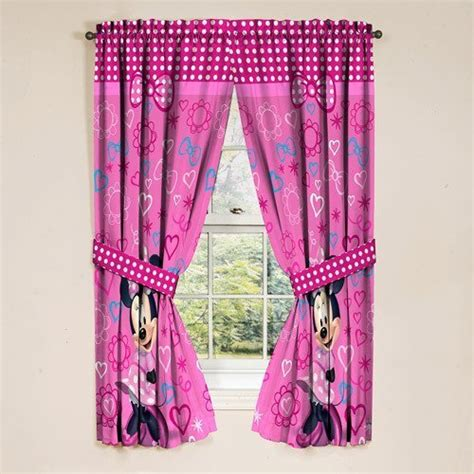 minnie mouse curtains set buy disney minnie mouse diva window drapes set of 2 in
