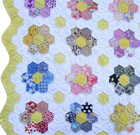 Grandmother S Flower Garden Quilt Pattern Grandmother S Flower Garden Quilt Q Is For Quilter