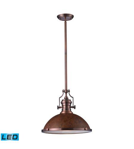 chadwick industrial antique copper kitchen pendant elk lighting chadwick 1 light pendant in antique copper