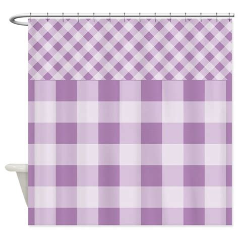 lilac shower curtain lilac violet gingham shower curtain by zandiepantshomedecor