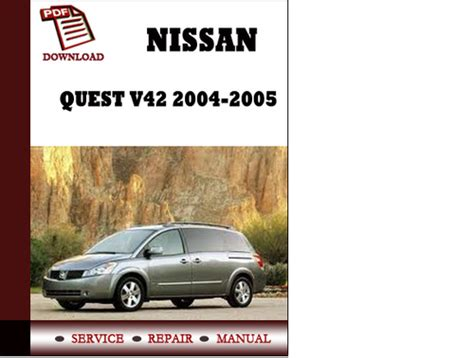 how to download repair manuals 2004 nissan quest electronic toll collection nissan quest v42 2004 2005 service manual repair manual pdf downloa