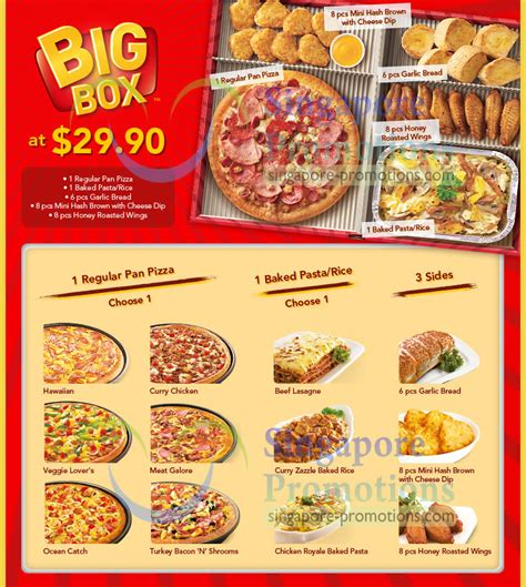 pizza hut delivery new 29 90 big box combo meal 25 feb 2013