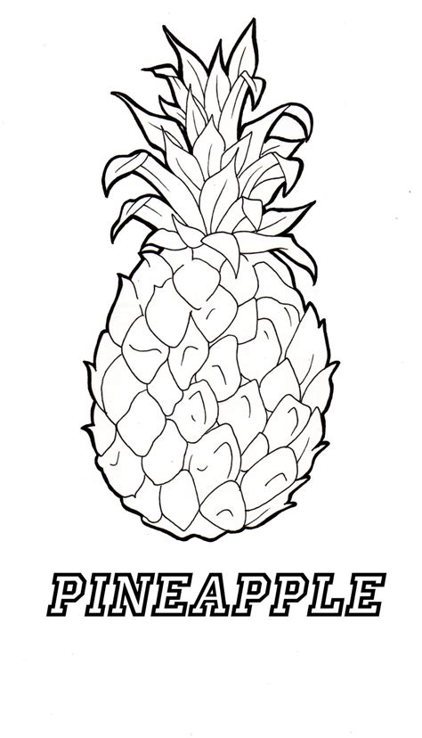 pineapple coloring page pineapple coloring coloring pages