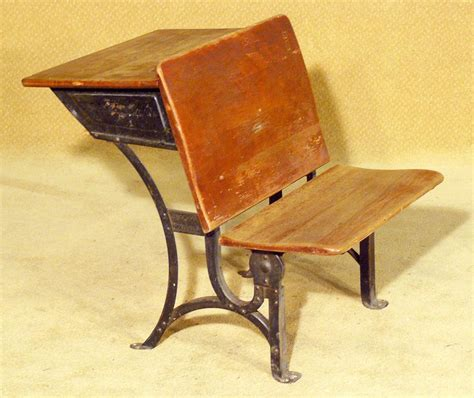 antique cast iron school desk heywood wakefield