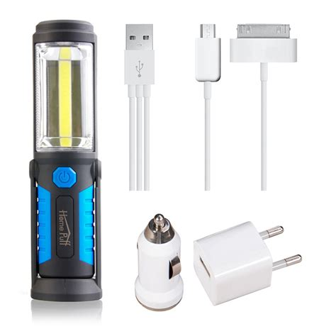 stand up lights for outside usb rechargeable l cob led flashlight outdoor work