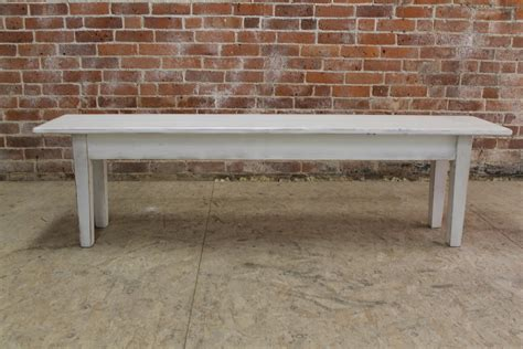 distressed benches white distressed bench with tapered leg ecustomfinishes