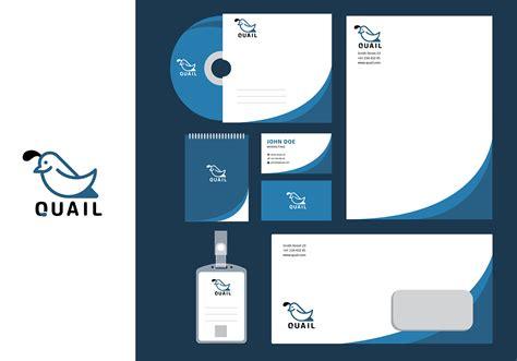 Vorlage Corporate Design Manual wachtel einfache corporate identity vorlage free vector
