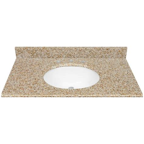 bathroom vanity tops 37 x 22 shop desert gold granite undermount bathroom vanity top