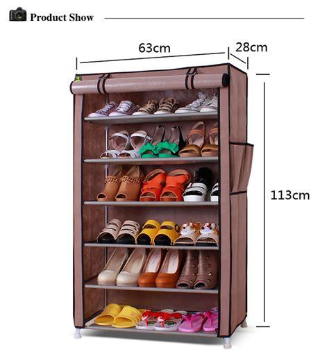 Rak Sepatu 7 Tingkat 6 Ruang Shoes Rack T3009 china 30 pair folding easy assemble shoes cabinet for