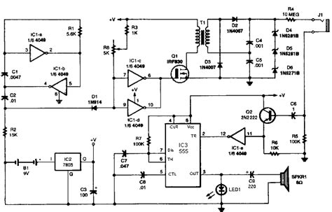 geiger counter diagram geiger counter schematic